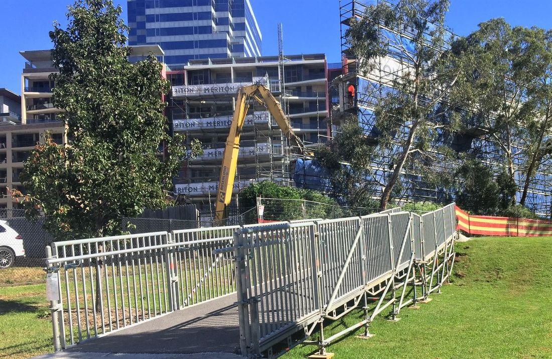 Public Access Scaffold Ramp