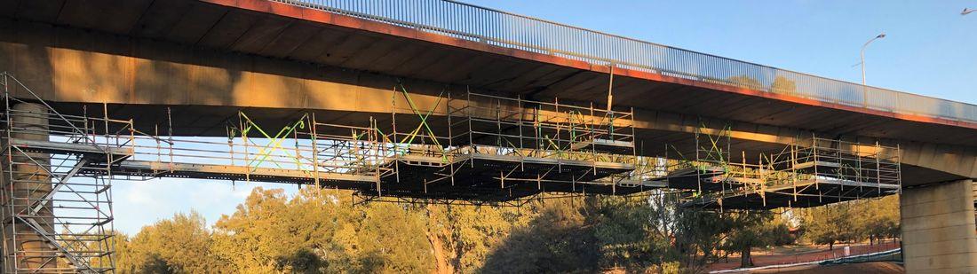 Scaffolding For Bridge Strengthening