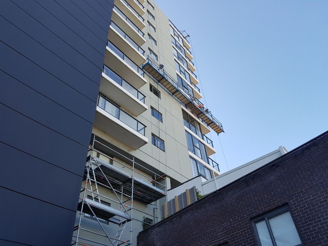 Swinging Stages For ACP Cladding Replacement